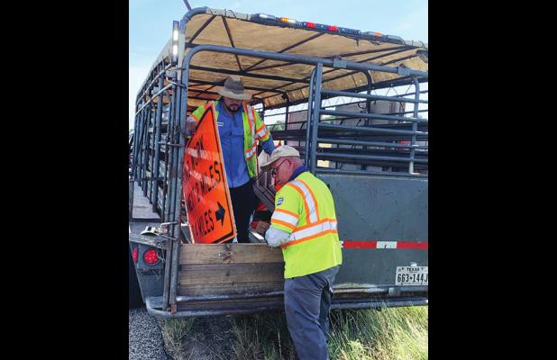 TxDOT Work Crews Busy in County