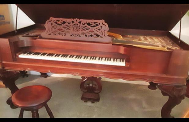 Come see the Church of Christ Piano in Lela Latch Lloyd Museum