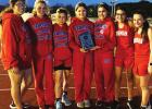 Lady Panthers claim JH district track title